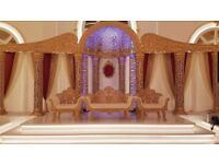 Beautiful Golden Royal Wing Wedding Stage and Decoration for Sale!