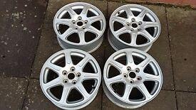 "4 X 16"" JAGUAR X-TYPE ALLOY WHEELS RIMS PCD 5X108 6.5JX16 PERFECT CONDITION FITS VOLVO"