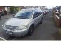 2001 Chrysler voyager 2.5 lots of service history