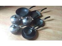 Set of 8, Meyer Circulon Non-Stick Cookware..