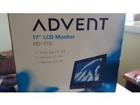 """17"""" LCD Monitor and a 600dpi scanner for sale"""