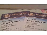 ICC Champions Trophy 2017 India vs Pakistan - Edgbaston x2 £200 per ticket ( India v Pakistan )