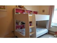 Girls' Bunk Bed with Mattresses (optional)