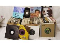 Over 300 mix of 60s, 70s, 80s, 45s single vinyl records, including Elvis, Beatles, Paul Mccarthy