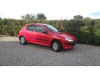 PEUGEOT 206 (51) 2002 £475. ONO