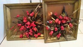 3D real leather flower arrangement