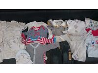Newborn baby clothes bundle **free nappies**