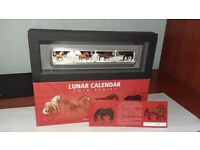 2014 Year of the Horse Lunar Calendar 1oz Silver Proof Rectangle 4 Coin Set