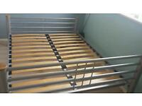 Double bed. slatted base