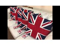 Great Britain Flag Cushions Brand New For Sale Chesterfield / Italy