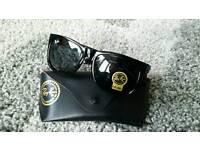 Rayban gloss black justin sunglasses. New
