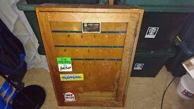 Vintage MOD Post WW2 Guardsroom Key Wall Mounted Key Cabinet by Remploy