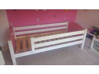 A childs single bed