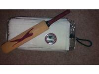 Lords Cricket towel and mini Slazenger bat