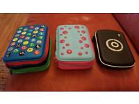 3 Smiggle pencil cases - triple, double and single versions