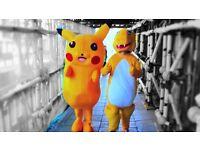 Pikachu & Charmander Costumes Mascots