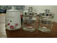 Coffee, tea and sugar holder