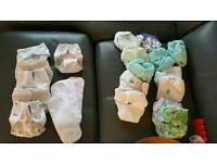 Cloth nappy bundle tot bots little lamb mother ease reusable