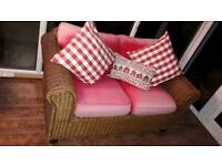 NEXT Rattan sofa 2 seater