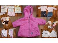42 Baby Girl Clothes bundle Mothercare, Next 0-3 months some new & 25 pampers nappies All you need!