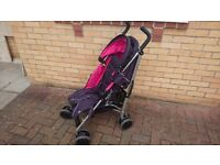Mamas and papas tour 2 stroller with rain cover