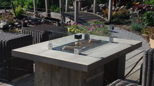 ≥ vuur tafel met gashaard inbouwbrander op gas voor buiten