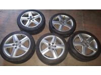 5 wheels audi 5x112 in very good condition and 4 good winter tires £200