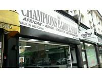 BARBER WANTED AT CHAMPIONS BARBER SHOP @ 223 LEE HIGH ROAD