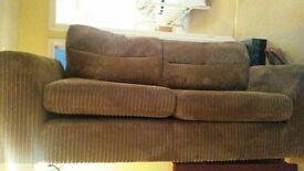 Large Mocha sofa, practically brand new