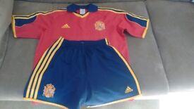 Child's Spain football kit