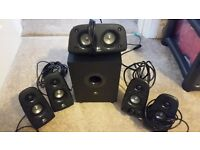 Logitech Z506 5.1 Surround Sound Speakers and Sub with extra long cable for rear speakers
