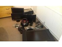 Selection of tv , freeview ,computer monitor and video /dvd players