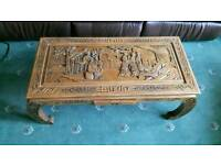 Carved Chinese coffee table