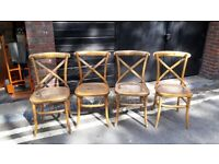 Set of 4 Gainsborough Style Dining Chairs (CANE SEATING NEEDS REPLACING)