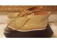 Massimo Dutti beige suede boots - size 8UK/43EU
