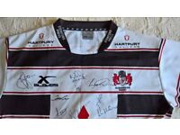 signed Gloucester Team Rugby Jersey
