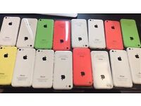 APPLE IPHONE 5C 8GB , 16GB , 32GB UNLOCKED MINT CONDITION COMES WITH WARRANTY , ACCESSORIES AND BOX