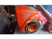 DISNEY CARS SHAPED TV WITH DVD BUILIT IN