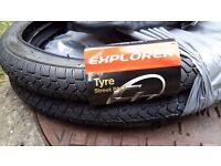 Two brand new BMX Tyres 20 x 2.0 plus tupes