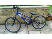 Apollo Sandstorm blue mountain bike