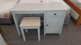 Julian Bowen Soft Grey Desk & Stool Can Deliver
