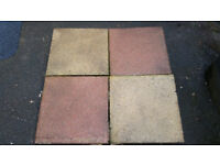 Garden Flags - Ideal for a Patio or Paving - 50/50 mix of Pink and Beige Flags