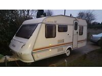 ELDDIS WISP 5 BERT IN GOOD CLEAN CONDITION WITH HOT AND COLD WATER SHOWER CASSETTE TOILET