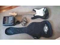 Tanglewood Nevada Fst32k Black Electric Guitar and Hiwatt Amplifier