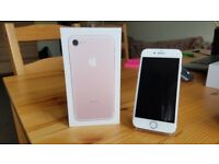 Apple Iphone 7 32GB ROSE GOLD with charger and box, unlocked to use with any network