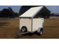BOX TRAILER CAR BIKE TRIKE CAMPING TAXI MOBILITY SCOOTER MOTO X QUAD MARKET VAN CAR BOOT BRENDERUP