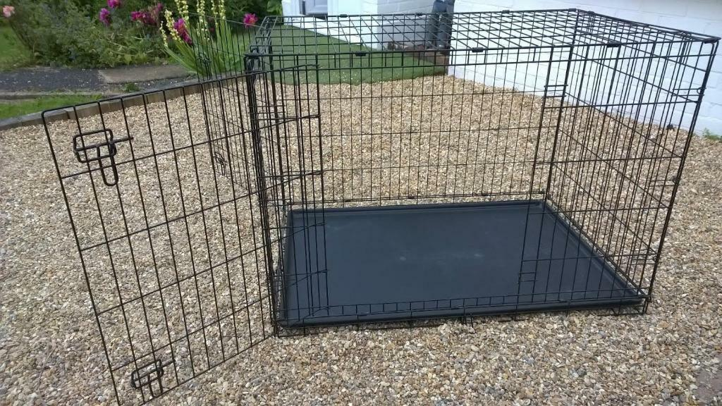 Large sturdy folding dog crate in hassocks west sussex for Job lot dog crate