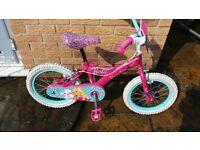 girls 16 inch pink barbie bike