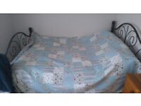 Solid metal double bedframe, Victorian style