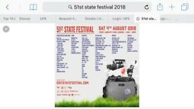 51st state festival tickets x2